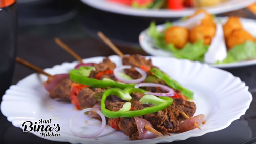 Suya With Vegetables