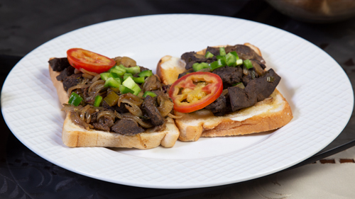 Lamb Liver Toast Recipe